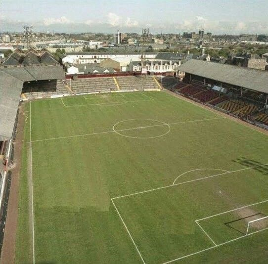 Tynecastle, Hearts in the 1980s.