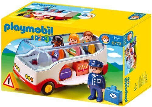 PLAYMOBIL 123  Airport Shuttle Bus with figures. #toys2learn #playmobil #123 #bus #vehicle #play #preschool #toddler #gift #australia #toy #airport #toy #toys