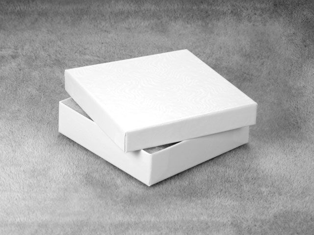 3 1/2 x 3 1/2 x 1 Inch Spun Polyester-Filled White Box - - another cool box for shipping