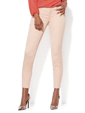 New and must-have, from weekend to work! The Crosby Pant: looks like a jean, wears like a pant. Designed in our unique, 2-way stretch, sateen fabric. Exclusively at New York and Company.