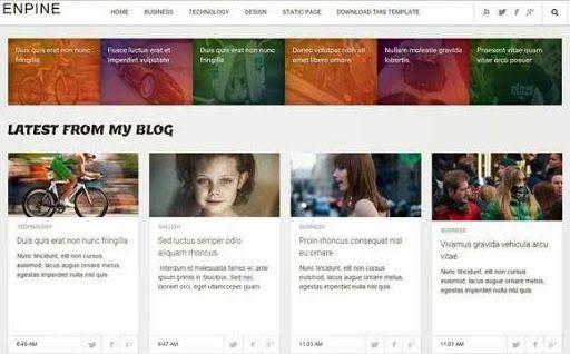 Theme Premium Dari Soratemplates Download Enpine Blogspot Blogger Template Gratis Responsive Seo Friendly Clean Blog Desain Tata Letak