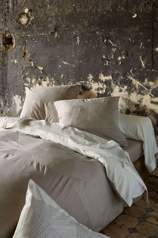 Parure de lit percale Empreintes 135x200   taie