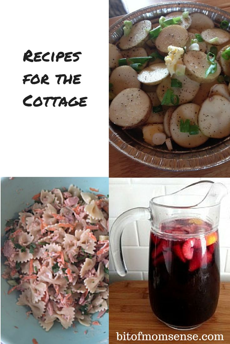Cottage Bites: Recipes for easy cottage meals and snacks #whatscooking