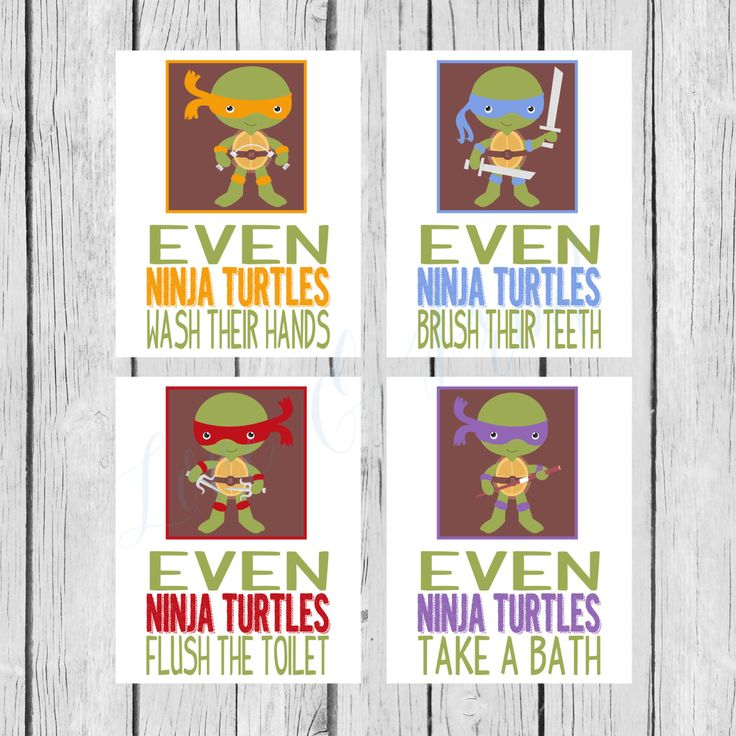 Ninja Turtle Bathroom Set  Printable  Wash Your by LoveandPrint, $12.50