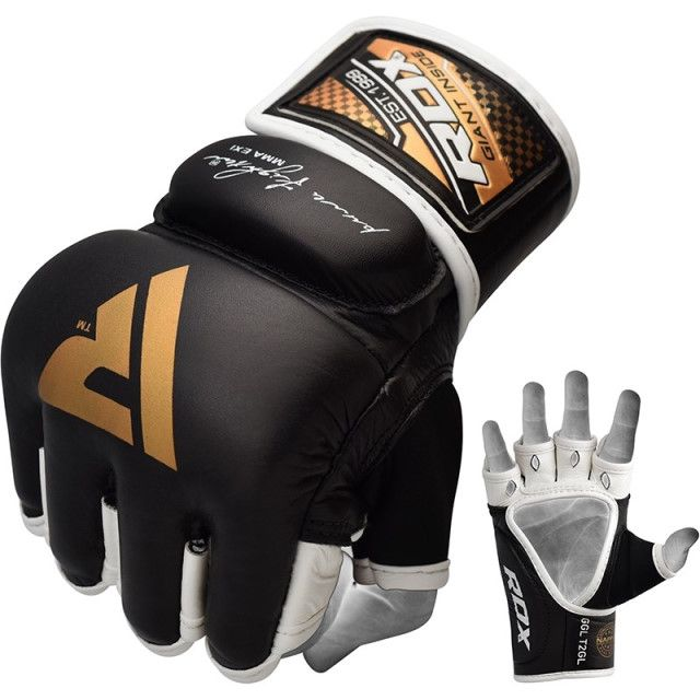 MMA Gloves in Genuine Leather for Professional Cage Fighter Free Shipping.