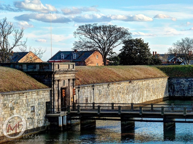 Fort Monroe, Hampton Roads Virginia.  A Walk Around The Casemate In Early Spring, 2012.