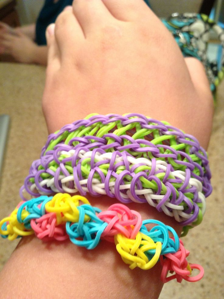 my own rainbow loom bracelets u can learn on type