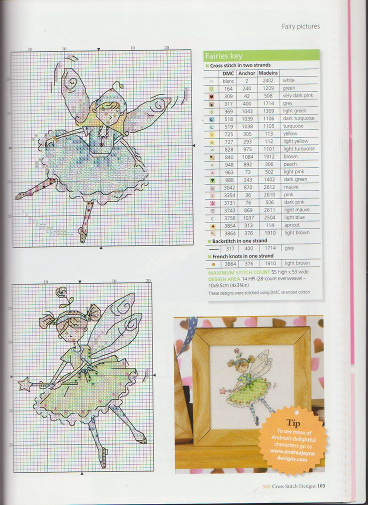 cute cross stitch little fairy crazy: