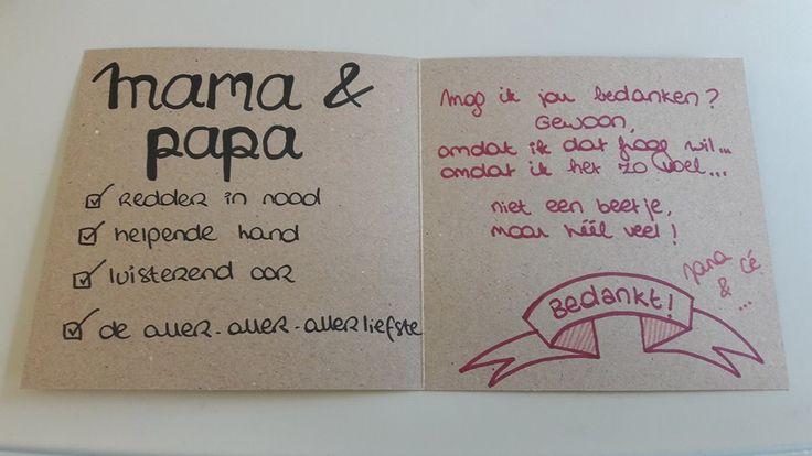 *Handlettering door Jana*