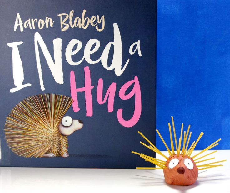 """This poor little porcupine just wants a hug! This craft is inspired by the book """"I Need a Hug,"""" by Aaron Blabey. After reading the book to the kids, we decided to make a simple stop-motion movie wi…"""