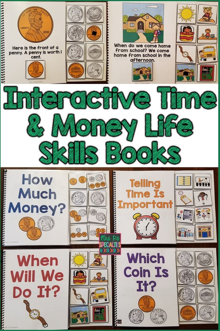 My students LOVE reading and participating with these life skills interactive books. The 4 books focus on time and money concepts that are crucial for my special education class to learn. My self-contained classroom is primarily made up of students with autism.