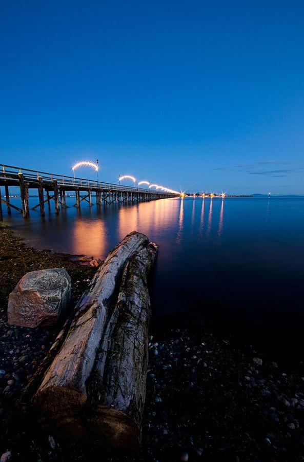 White Rock Pier, British Columbia, Canada | by Akash Aujla, via 500px.