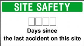 Site Safety Days since the last accident on this site