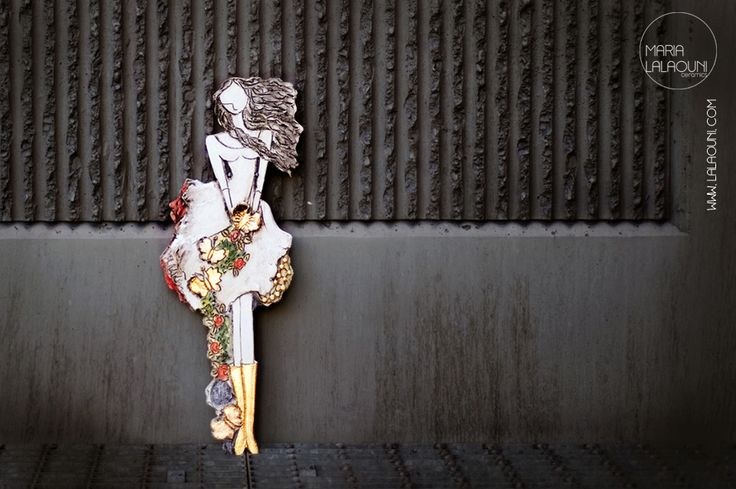 Handmade ceramic figure made by Maria Lalaouni * http://www.lalaouni.com