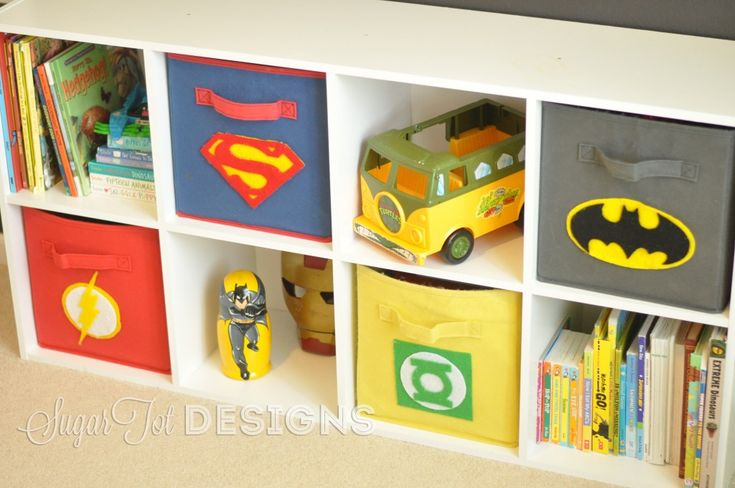 Project Nursery - SuperheroBins but marvel not dc