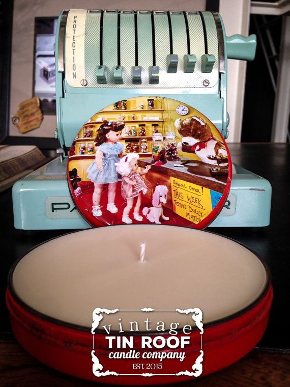 Doll Shopping Tin Roof Candle