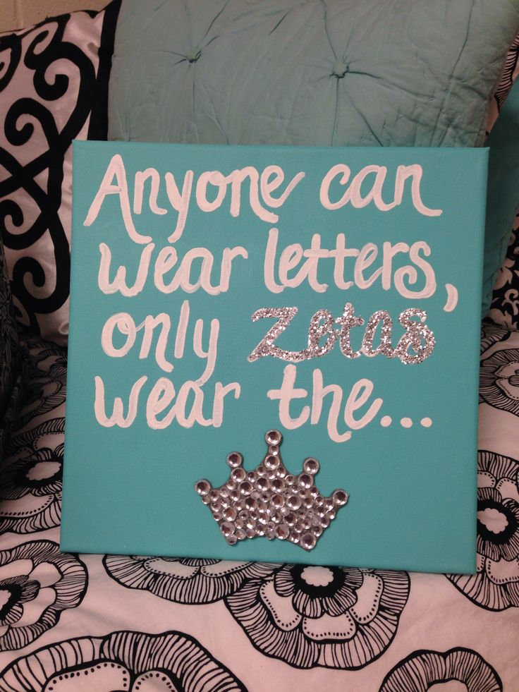Anyone Can Wear Letters....Canvas Zeta Tau Alpha