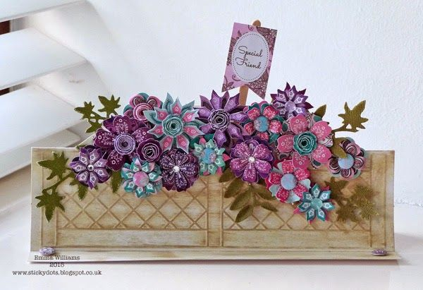 Scrumptious Window Box card by Emma Williams using Craftwork Cards products