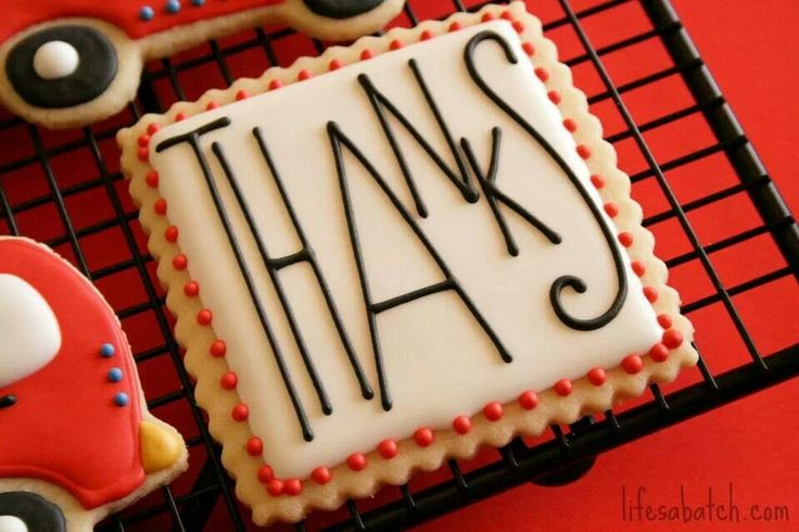 Thank you cookies by Life's a Batch