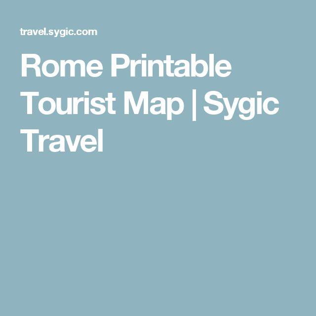 Rome Printable Tourist Map  | Sygic Travel