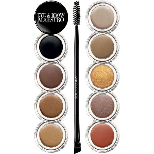 Giorgio Armani Eye & Brow Maestro (£28) ❤ liked on Polyvore featuring beauty products, makeup, eye makeup, beauty, filler, eyebrow cosmetics, eyebrow makeup, eye brow makeup, giorgio armani and giorgio armani makeup