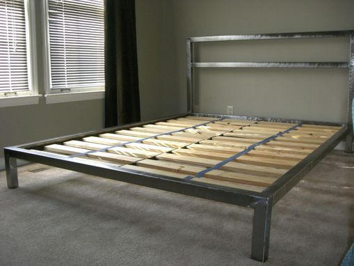 Custom Made Welded Platform Bed Welded Furniture Diy Platform Bed Plans Homemade Beds