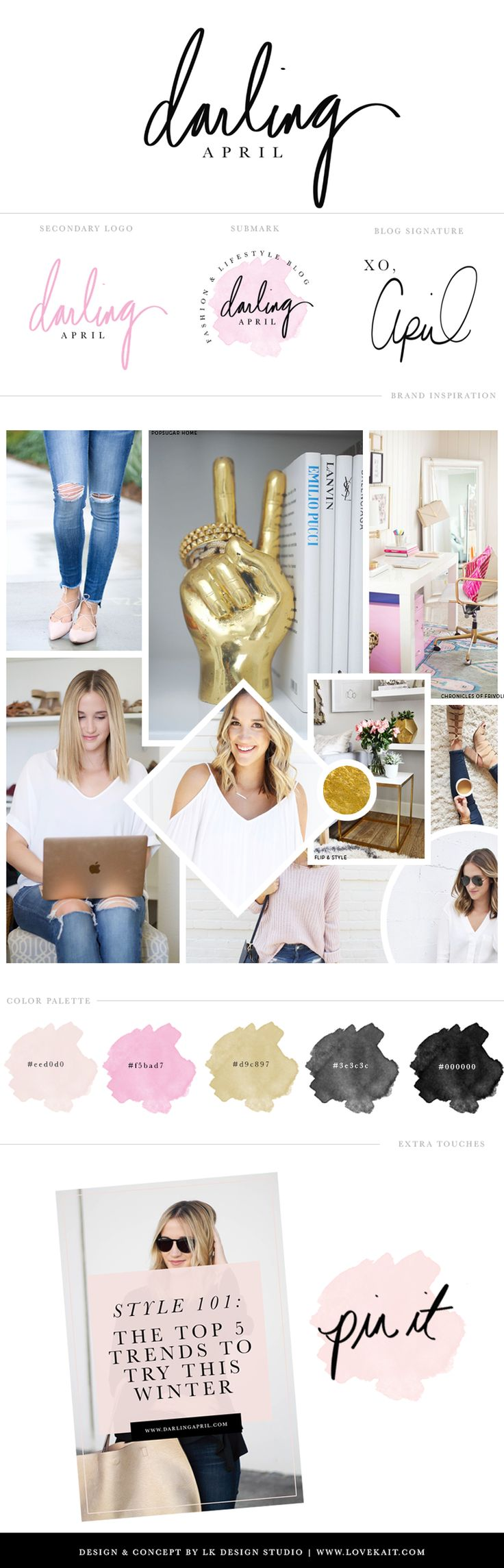Fashion Blog Branding & Logo Design | LK Design Studio
