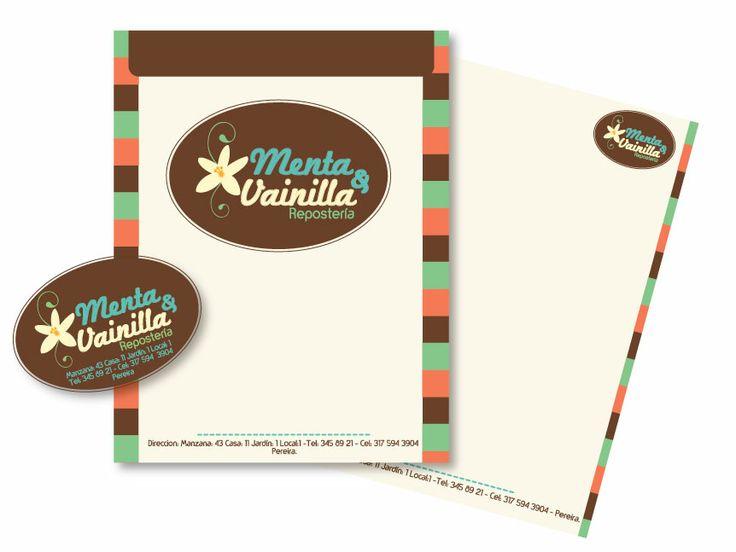 Manual de Identidad Corporativa. Marca Menta y Vainilla. Creación de nombre e identidad visual