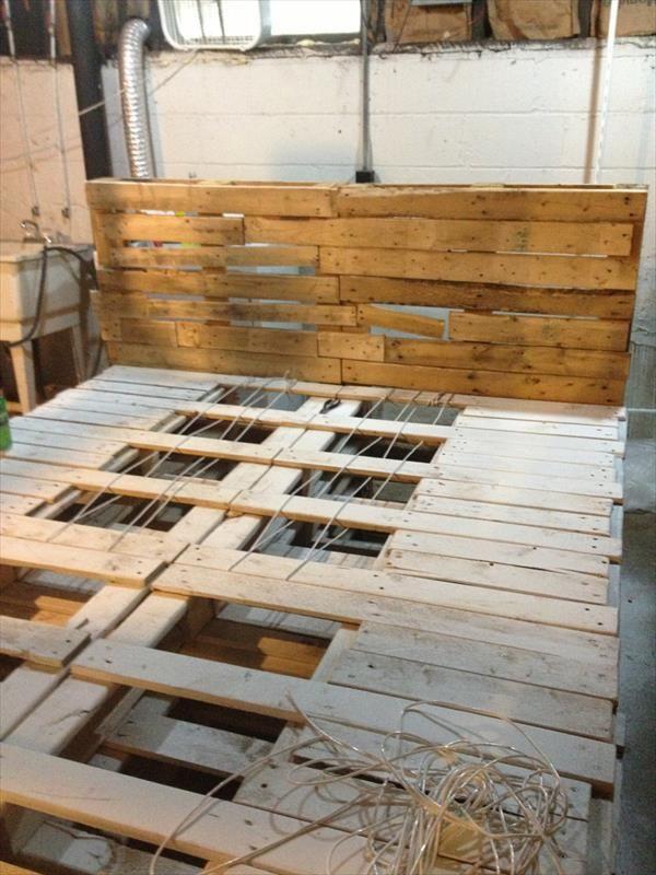 97 best pallet bed images on pinterest   home, diy and pallets