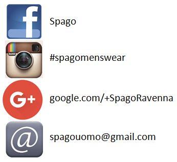 Non dimeticatevi di seguirci su tutti i social 💪🏽💪🏽  Fb --> https://www.facebook.com/spagoabbigliamentouomo/ Instagram --> https://www.instagram.com/spagomenswear/ Google+ --> https://plus.google.com/+SpagoRavenna Pinterest --> https://it.pinterest.com/spagoabbigliame/pins/  Sito --> www.spagoabbigliamento.it Mail --> spagouomo@gmail.com Telefono --> 0544201799  #SpagoAbbigliamento #AbbigliamentoUomo #SpagoUomo #AccessoriUomo #Abbigliamento #Accessori #Uomo #Man #Menswear #Social…