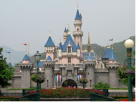 Sleeping Beauty's Castle (Disneyland, Hong Kong, China)  Got to visit them all!  Going back when the Shanghai Park opens.