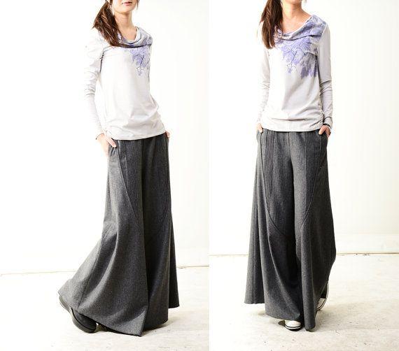 Moon forgot  woolen skirt pants K1206 by idea2lifestyle on Etsy