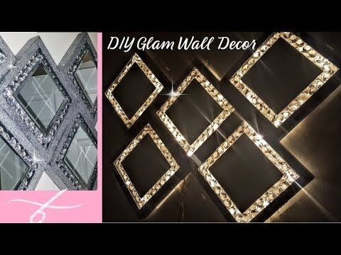 Jan 31, 2019 - Super Glam Wall Decor with Lights | DIY Dollar Tree Home Decor | Wall light | Glam Mirror | Sconce - YouTube