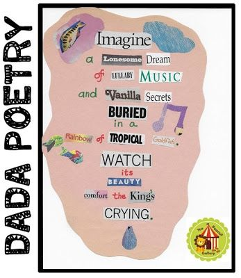 Magic happens when you inspire your students to create dada poetry using found words!
