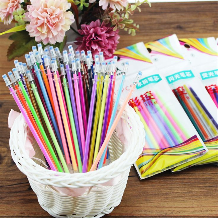 10 Pcs/Pack, Colorful Gel Pen Refill Highlighters Gel Pen Ballpoint Pen Refill Students Painting Graffiti Fluorescent Refill #>=#>=#>=#>=#> Click on the pin to check out discount price, color, size, shipping, etc. Save and like it!