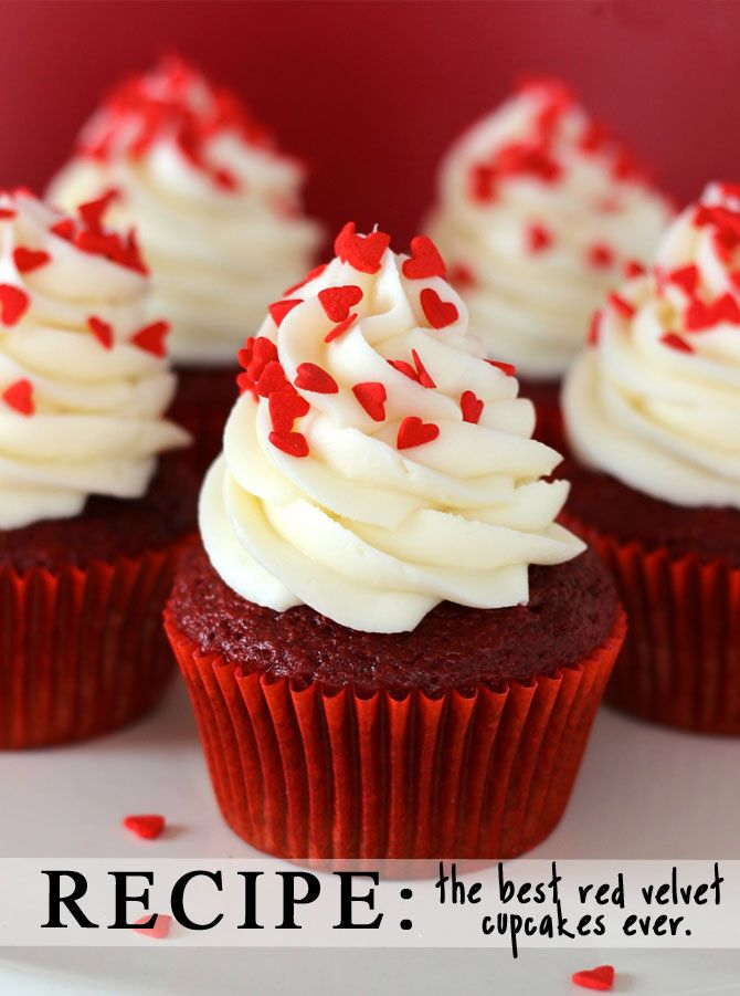 red velvet cupcakes- would have a personalized heart shape cookie or candy on the top.