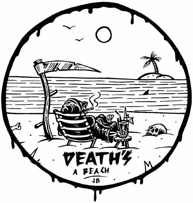 Death's A Beach - Jamie Browne Art