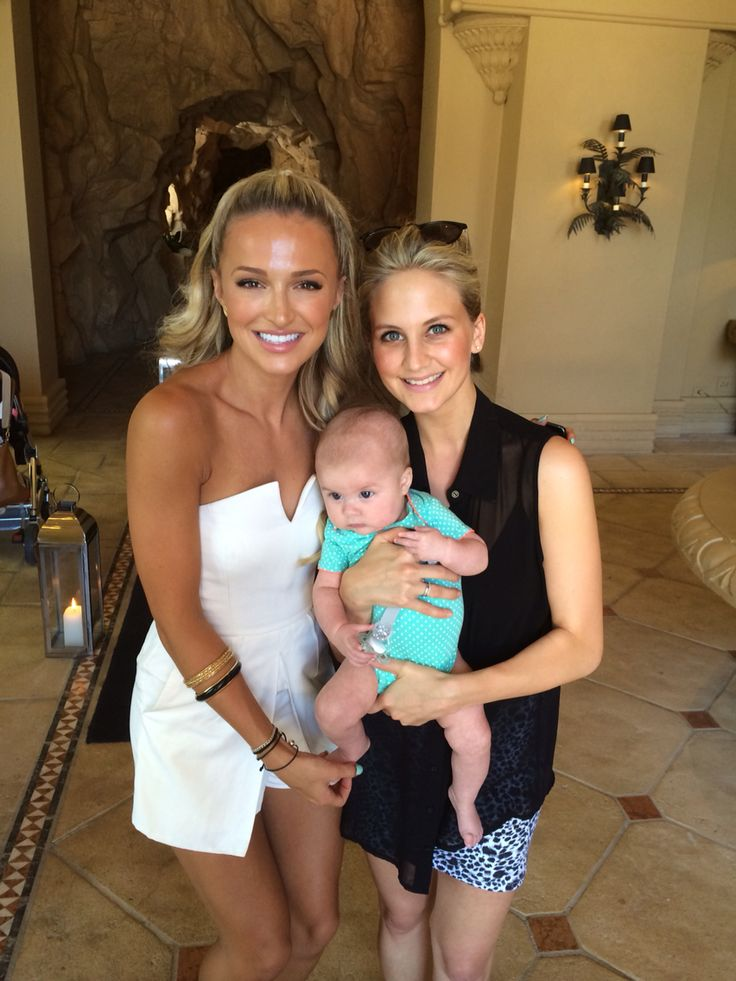Melinda Bam and Melissa Madsen with baby Isabella Madsen