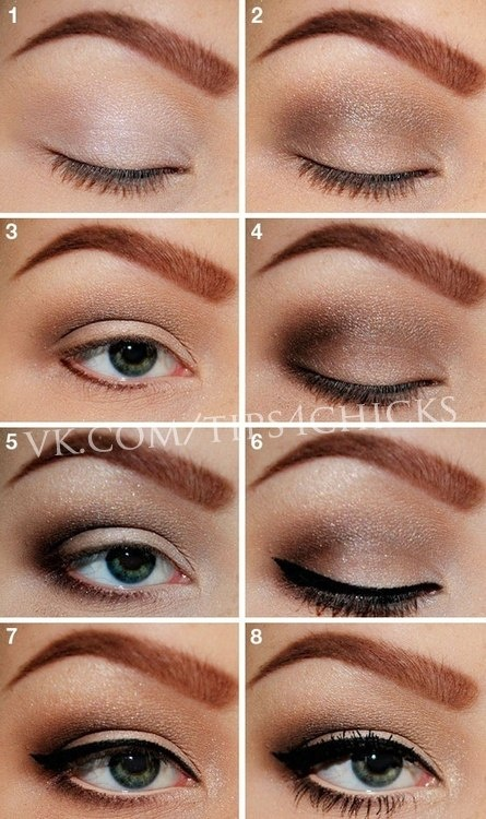Neutral winged makeup tuto
