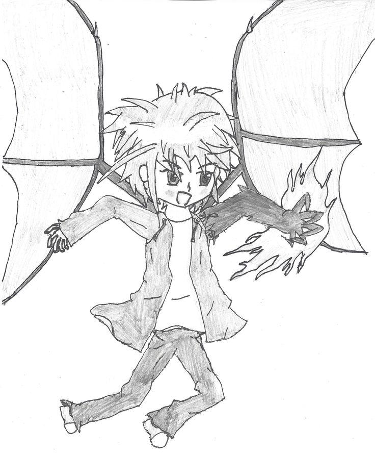 Caleb B. - Boy who is part dragon (original character)