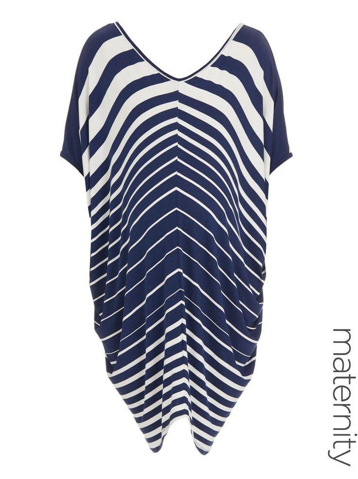 V-neck drape dress Multi-colour