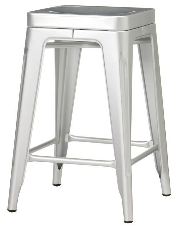 Lovely Aluminum Backless Bar Stools