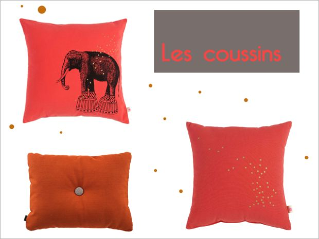Charles Ray and Coco - les coussins - orange mécanique