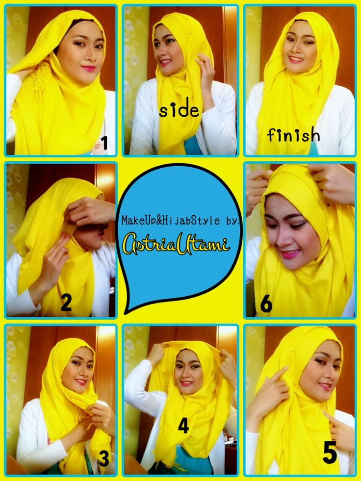 Some simple hijab tutorial for work or hangout