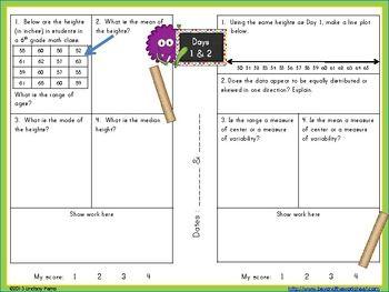 6th grade common core statistics amp probability review