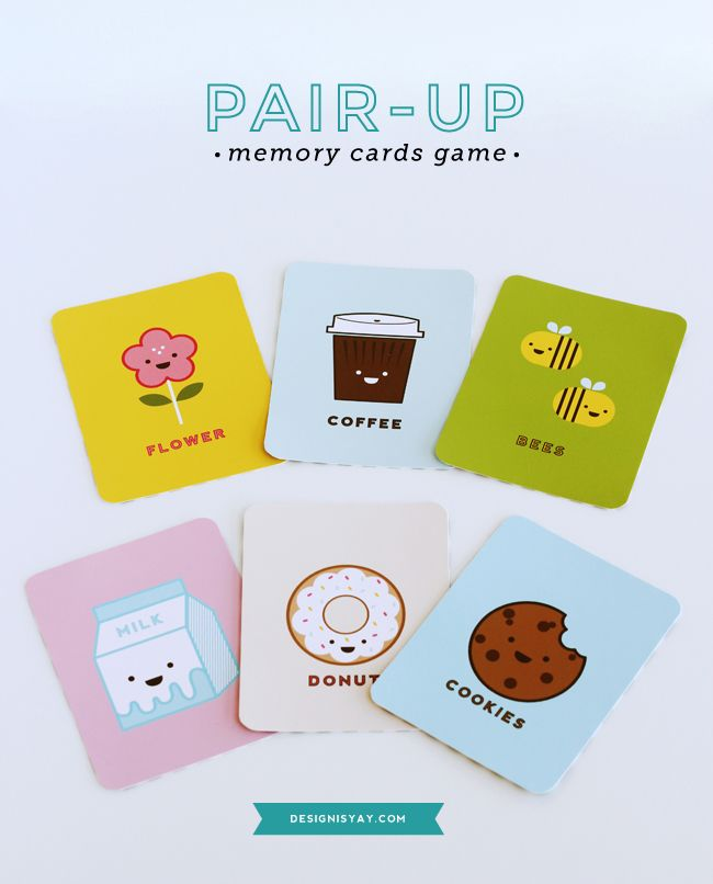 Home Design Ideas Buch: FREE Printable Pair-up Memory Cards Game