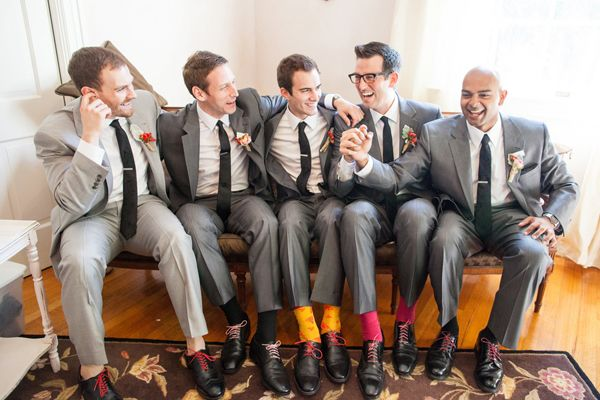 love this casual photo of the gents | Dana Cubbage #wedding