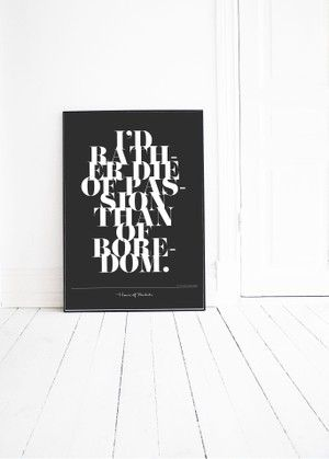 PASSION typography poster by Pernilla Algede. Buy at houseofbeatniks.com