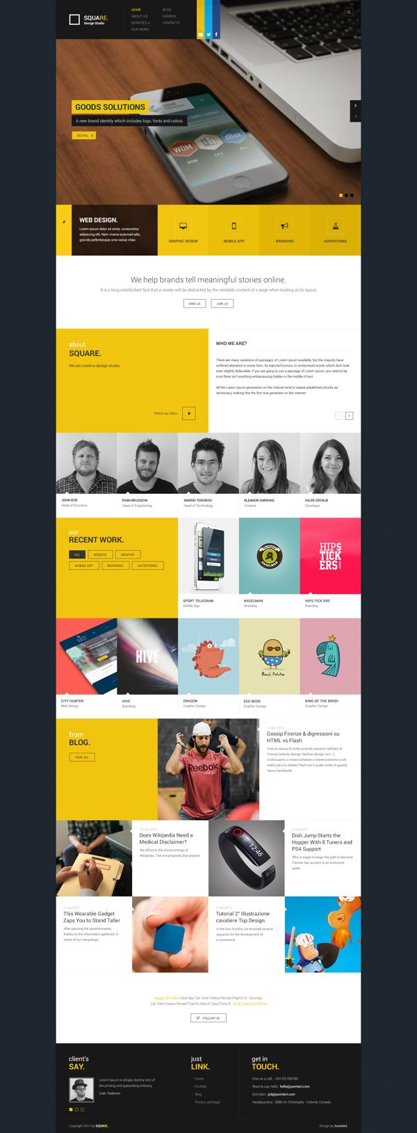 Web Portfolio on Behance