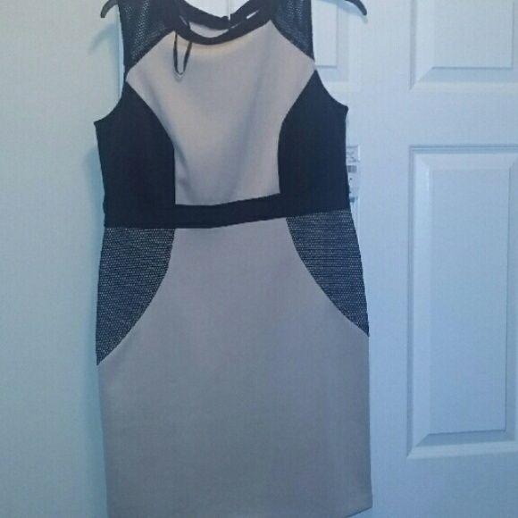SALENWT Black and tan dress Never worn knee length dress Dresses Midi